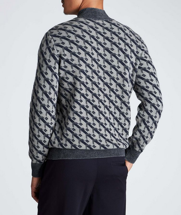 Geometric Print Cashmere-Blend Sweater image 2