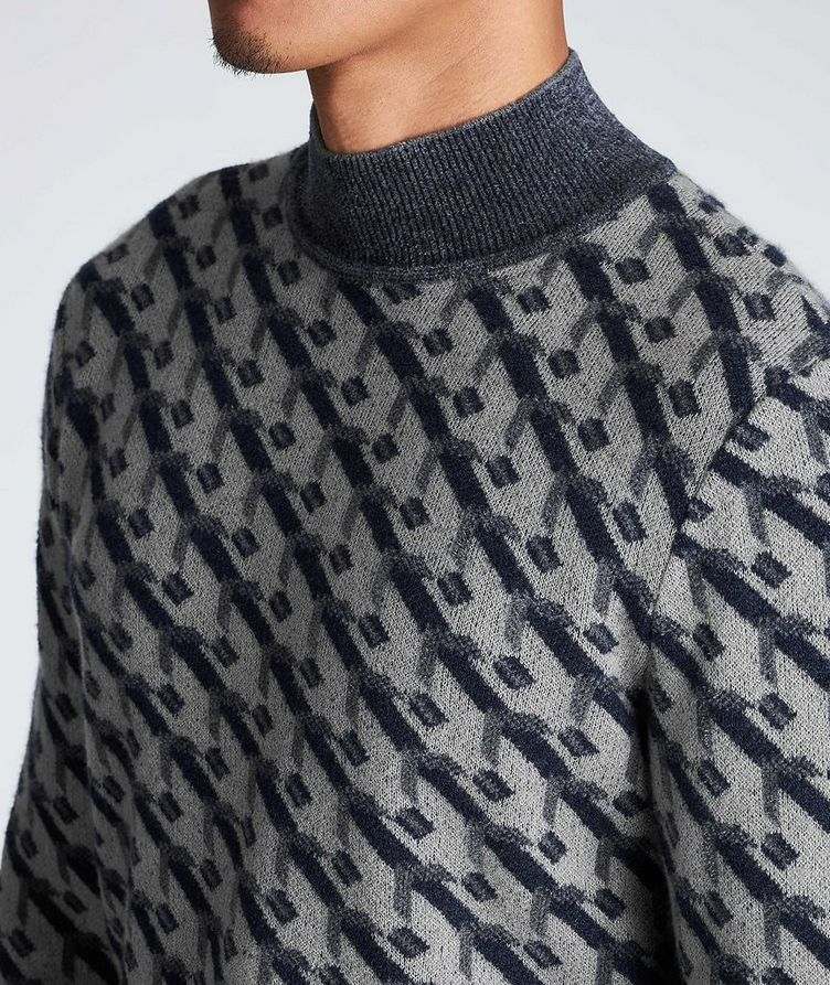 Geometric Print Cashmere-Blend Sweater image 3
