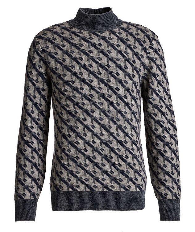 Geometric Print Cashmere-Blend Sweater picture 1