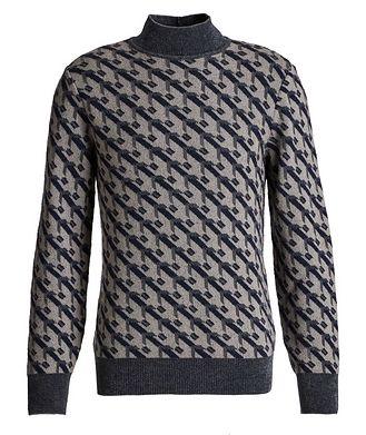 Giorgio Armani Geometric Print Cashmere-Blend Sweater