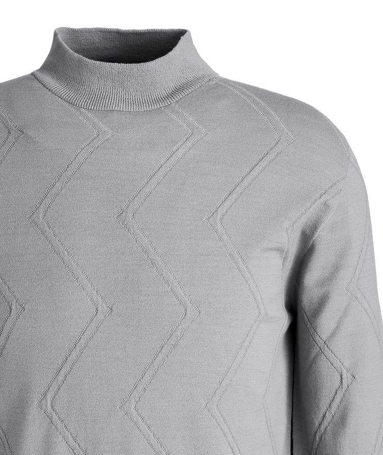 Wool-Blend Mock Neck Sweater image 1