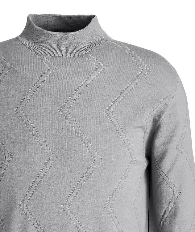 Wool-Blend Mock Neck Sweater picture 2