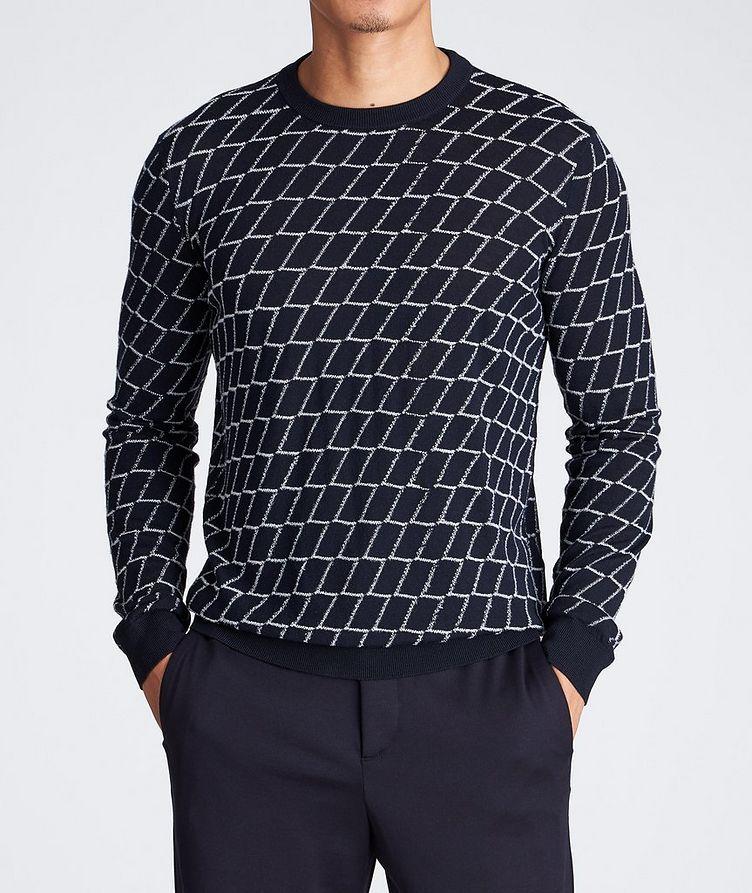 Textured Geometric Print Sweater image 1