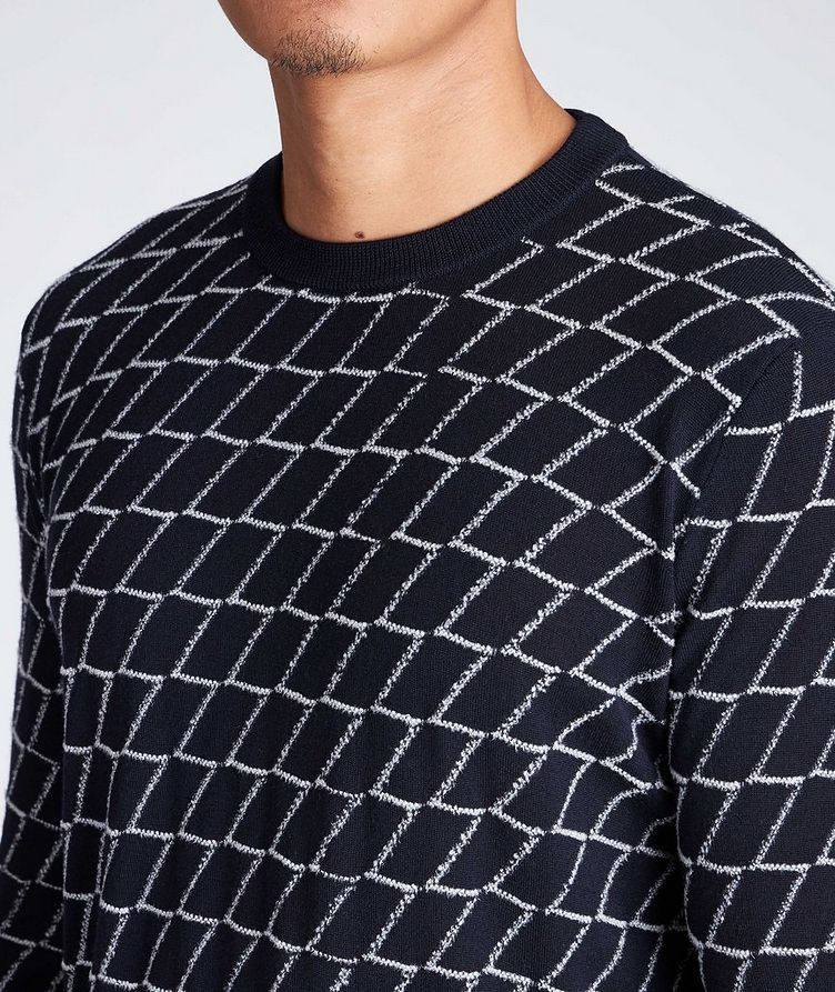 Textured Geometric Print Sweater image 2