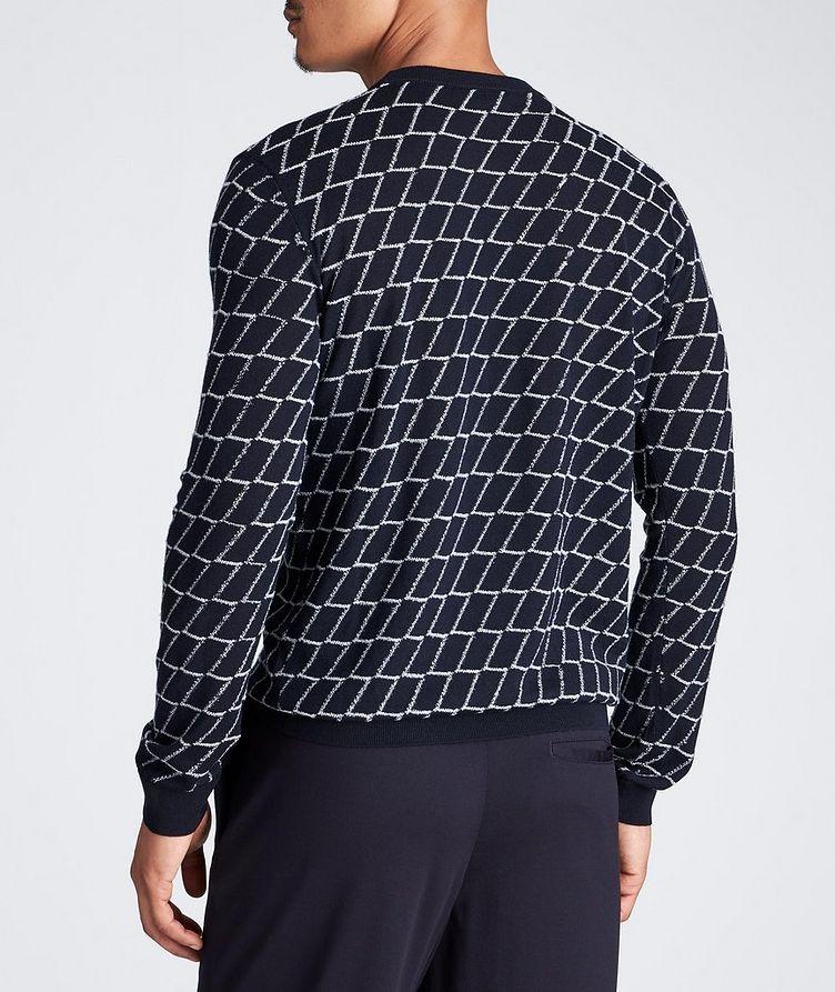 Textured Geometric Print Sweater image 3