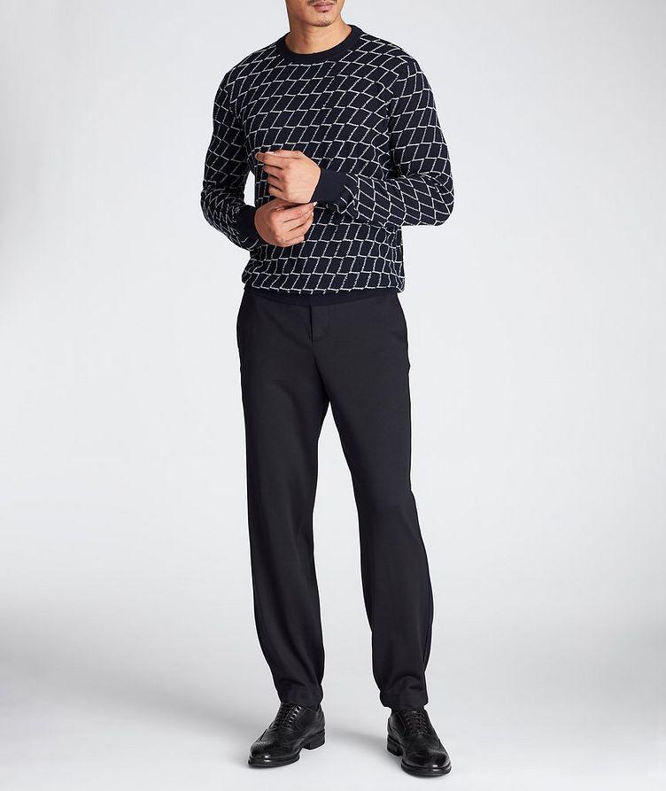 Textured Geometric Print Sweater image 4