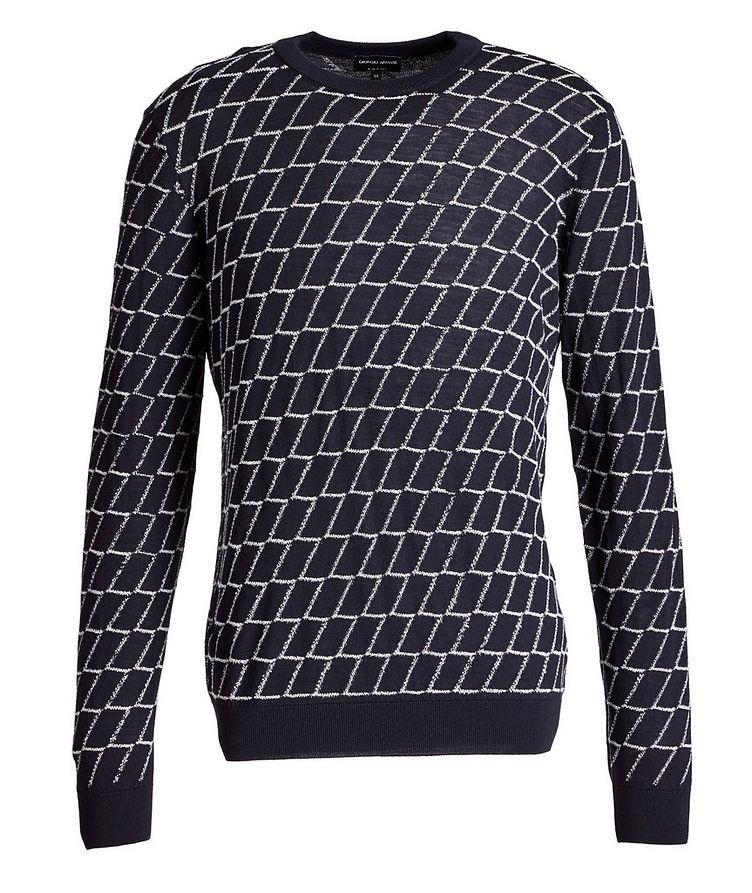 Textured Geometric Print Sweater image 0