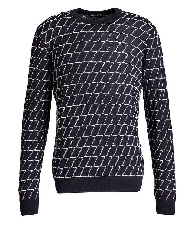 Textured Geometric Print Sweater picture 1