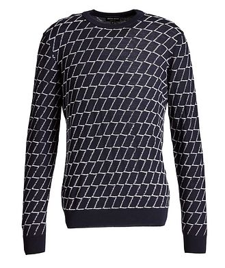Giorgio Armani Textured Geometric Print Sweater