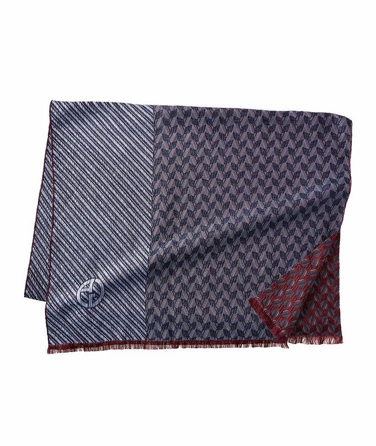 Écharpe en soie et laine à motifs image 0