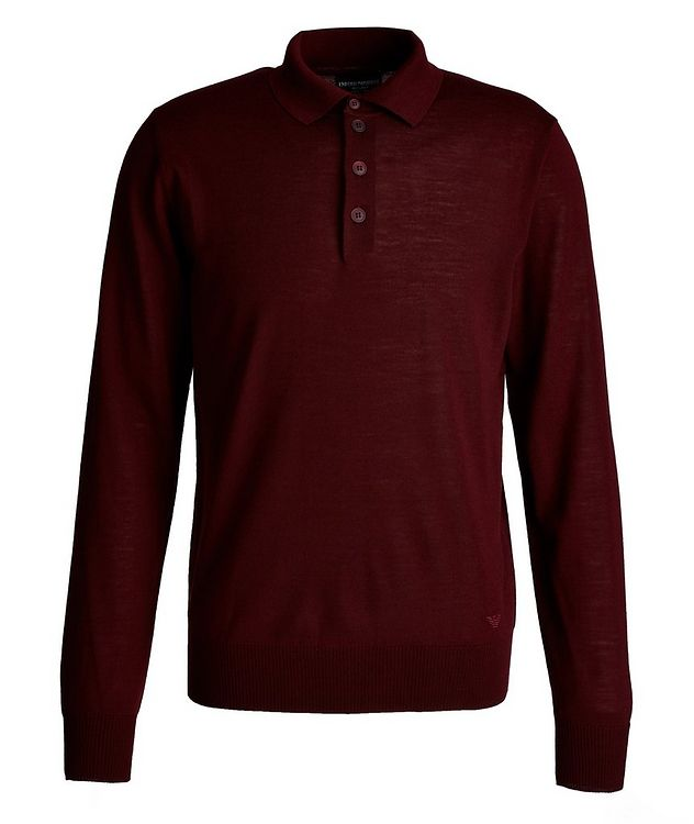 Long-Sleeve Wool Polo picture 1