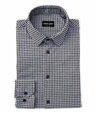 Giorgio Armani Contemporary Fit Textured Dress Shirt