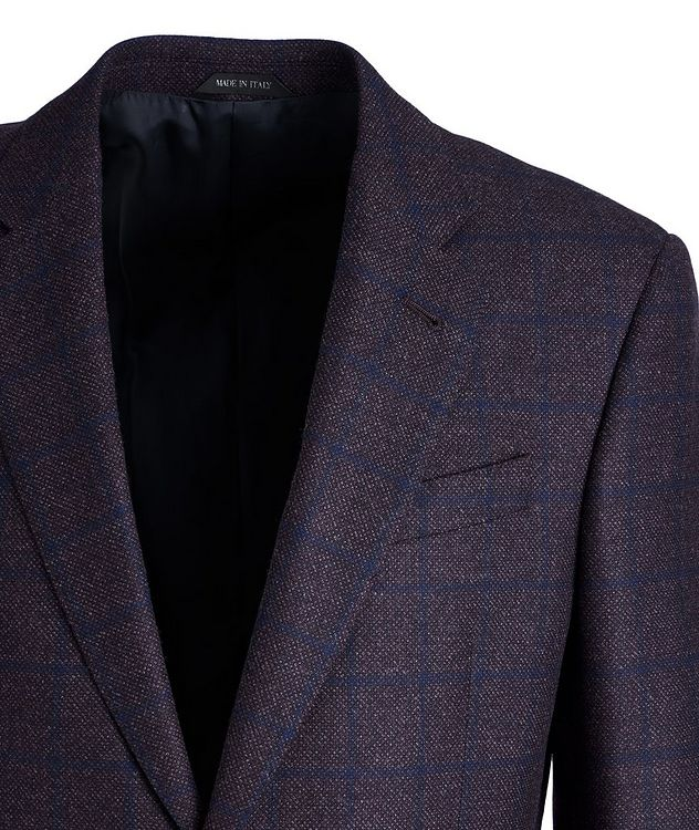 Soft Construction Checked Wool Sports Jacket picture 2