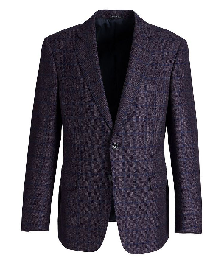 Soft Construction Checked Wool Sports Jacket image 0