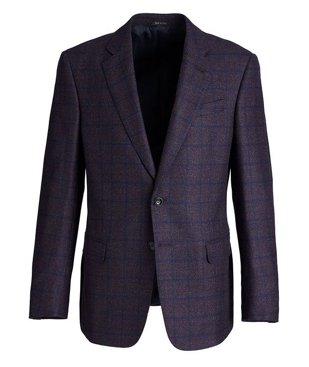Soft Construction Checked Wool Sports Jacket picture 1