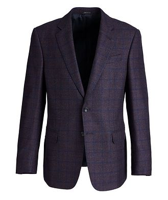 Giorgio Armani Soft Construction Checked Wool Sports Jacket