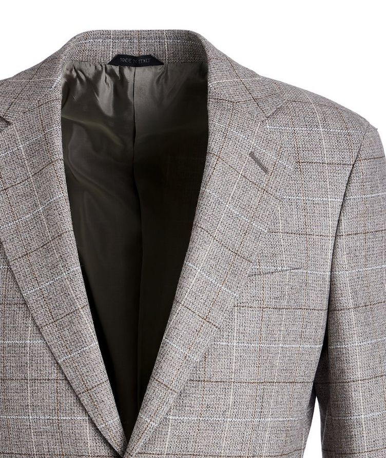 George Checked Wool-Cashmere Sports Jacket image 1