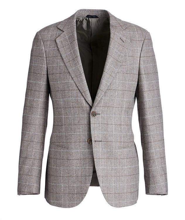 George Checked Wool-Cashmere Sports Jacket picture 1
