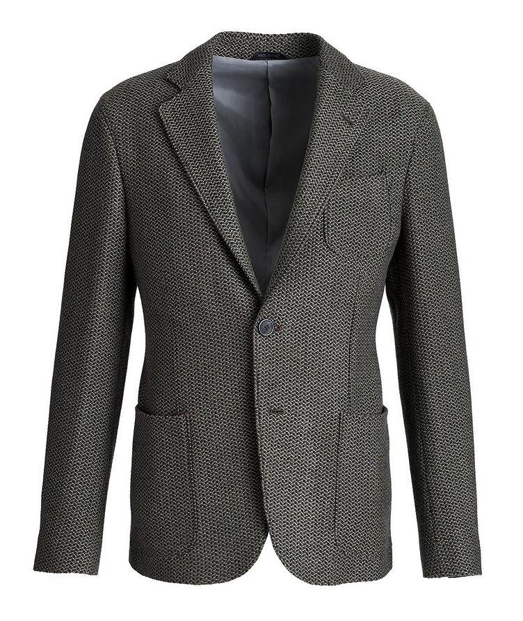 Veston non structuré en tricot de laine image 0