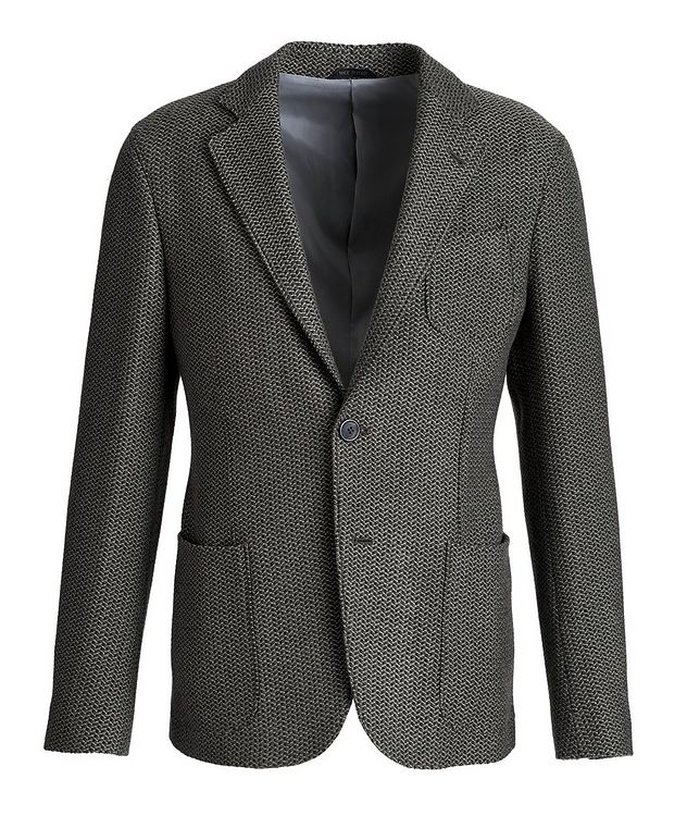 Unstructured Wool-Knit Sports Jacket picture 1