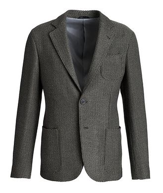 Giorgio Armani Unstructured Wool-Knit Sports Jacket