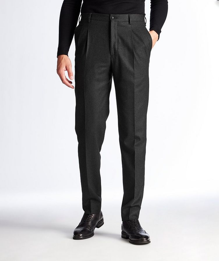 Slim Fit Stretch-Wool Dress Pants image 0