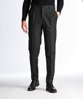 Giorgio Armani Slim Fit Stretch-Wool Dress Pants