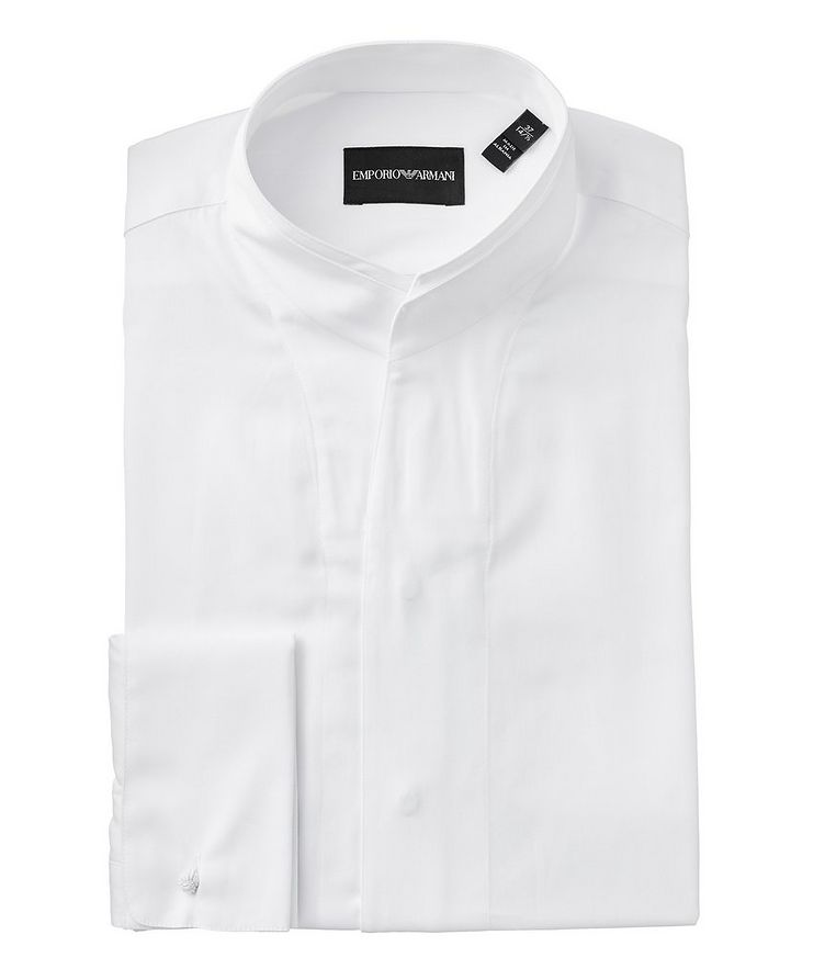 Contemporary Fit Cotton-Silk Dress Shirt image 0