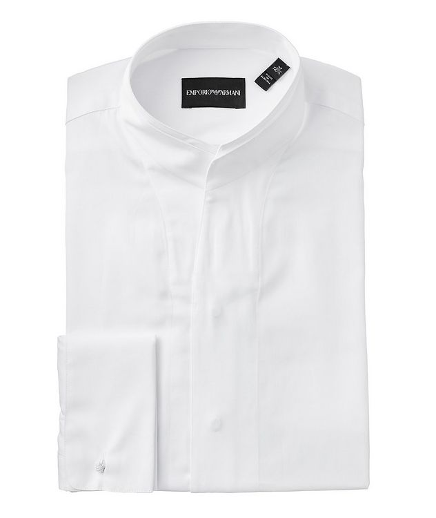 Contemporary Fit Cotton-Silk Dress Shirt picture 1