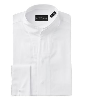 Emporio Armani Contemporary Fit Cotton-Silk Dress Shirt
