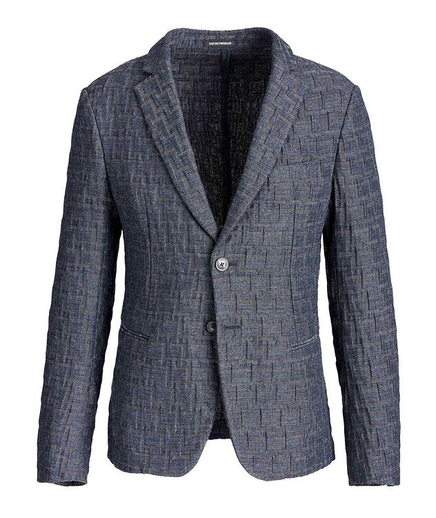 Geometric Print Unstructured Sports Jacket picture 1