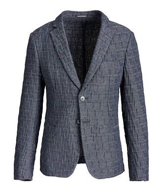 Emporio Armani Geometric Print Unstructured Sports Jacket