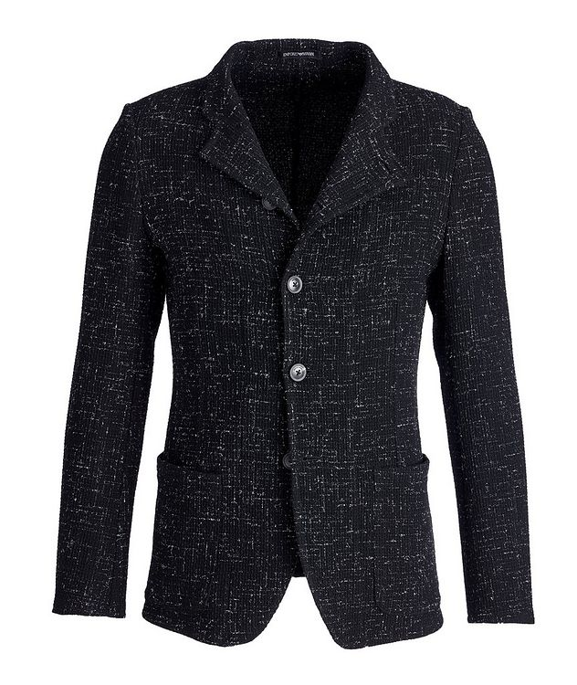 Unstructured Stretch-Wool Sports Jacket picture 1