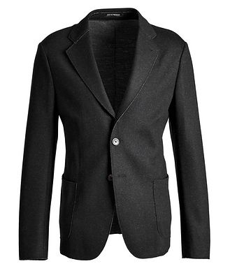 Emporio Armani Unstructured Wool-Blend Sports Jacket