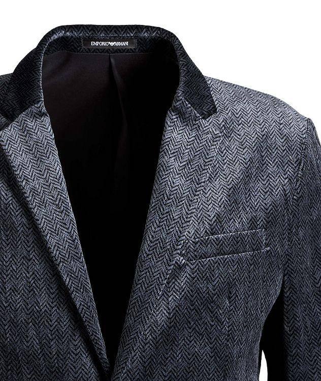 Unstructured Velvet Herringbone Sports Jacket picture 2