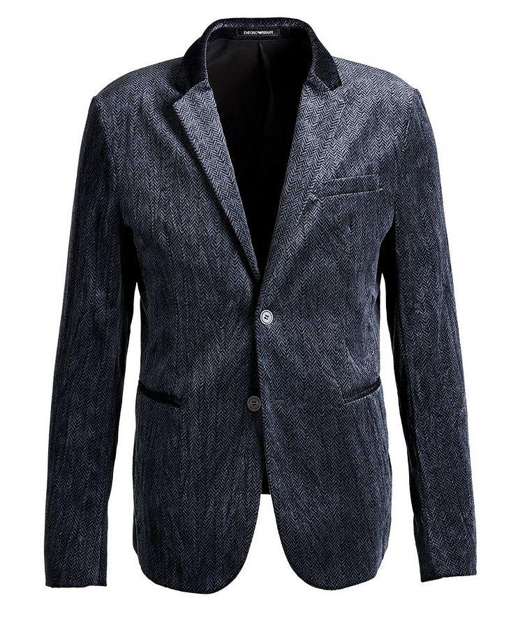 Unstructured Velvet Herringbone Sports Jacket image 0