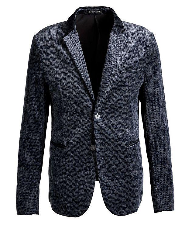 Unstructured Velvet Herringbone Sports Jacket picture 1