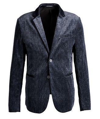 Emporio Armani Unstructured Velvet Herringbone Sports Jacket