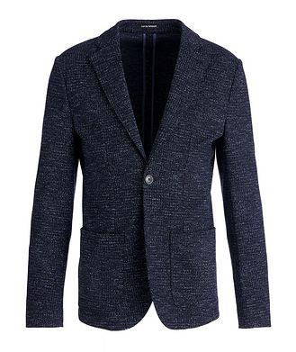 Emporio Armani Unstructured Wool-Cotton Sports Jacket