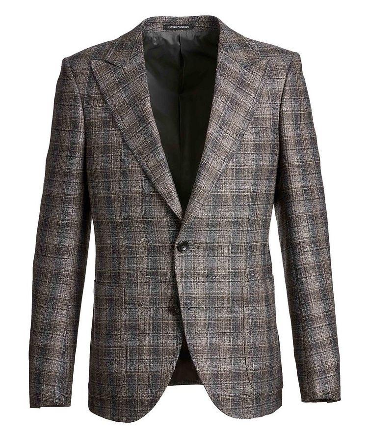 Savile Line Checked Wool-Blend Sports Jacket image 0
