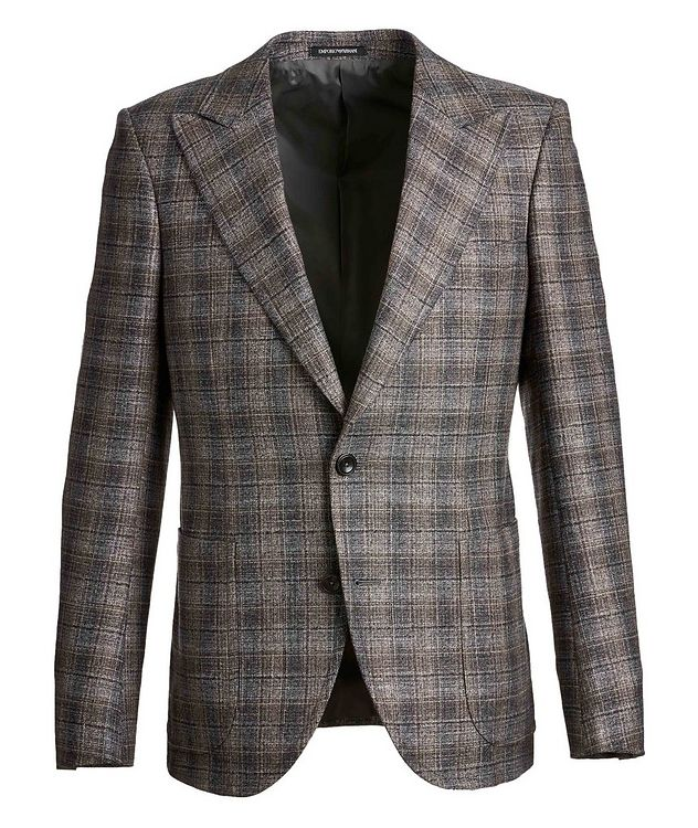 Savile Line Checked Wool-Blend Sports Jacket picture 1