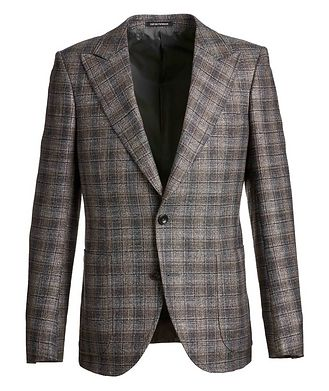 Emporio Armani Savile Line Checked Wool-Blend Sports Jacket