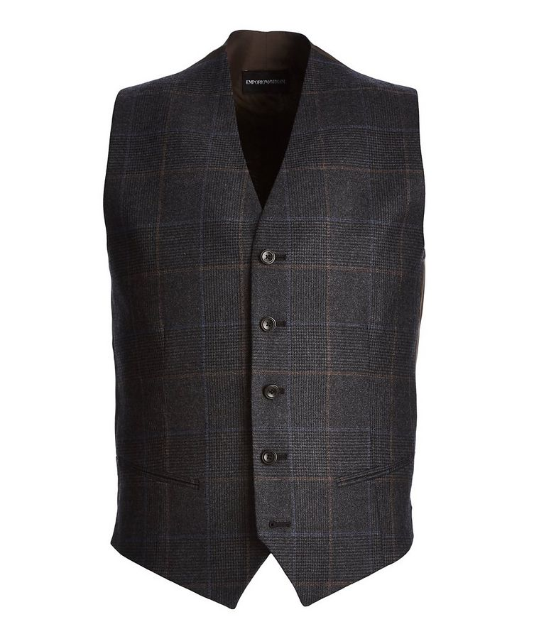 Checkered Wool Vest image 0