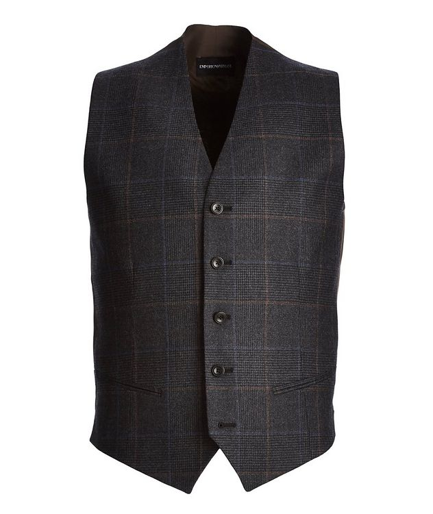 Checkered Wool Vest picture 1