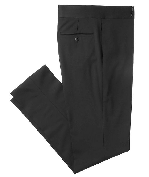 Slim Fit Stretch-Wool Tuxedo Pants picture 1