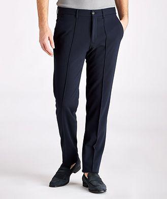 Emporio Armani Viscose-Blend Stretch Trousers