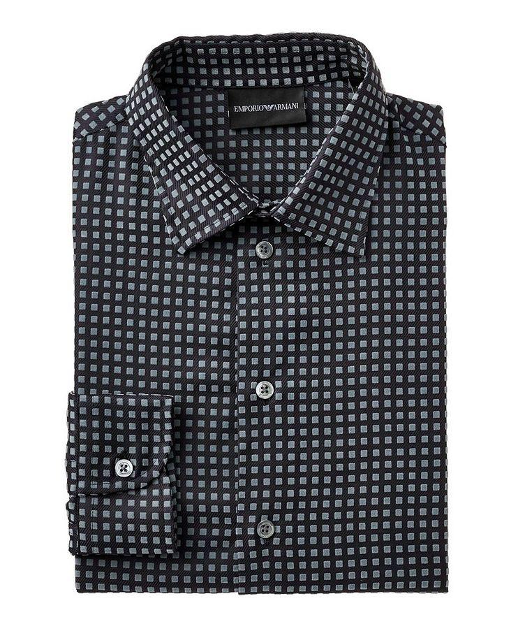 Textured-Geometric Cotton Shirt image 0
