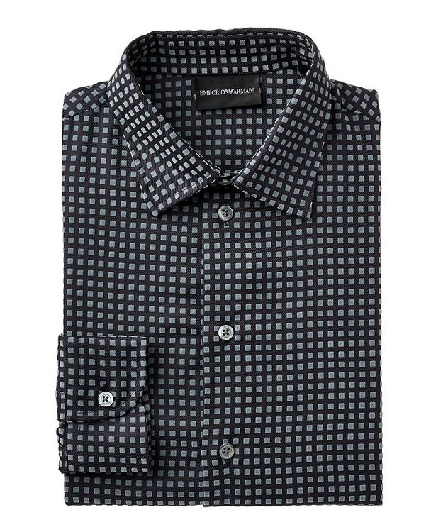 Textured-Geometric Cotton Shirt picture 1
