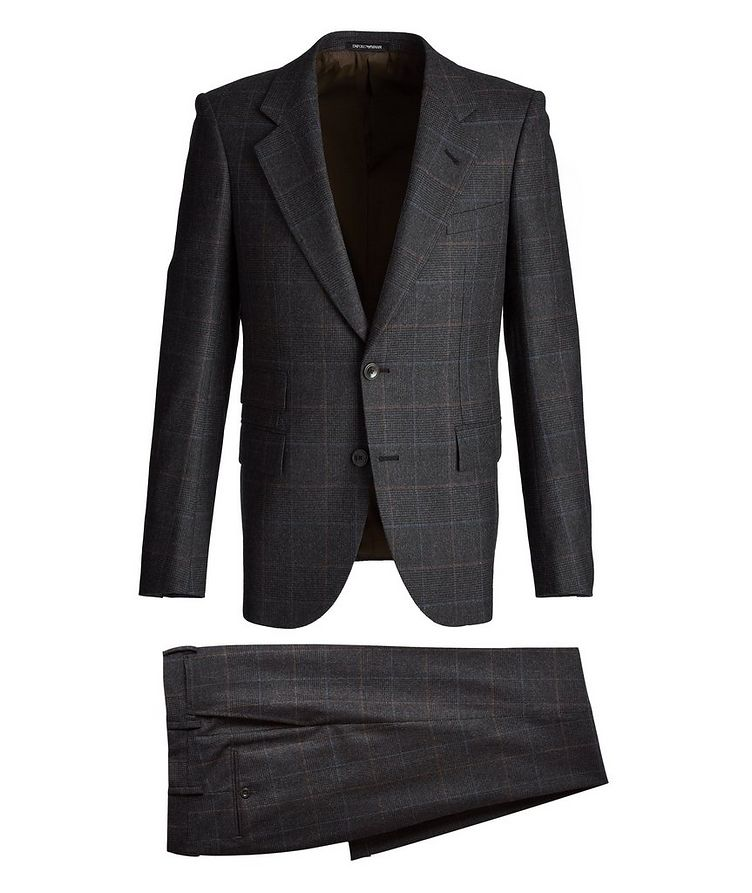 Savile Line Stretch-Wool Suit image 0