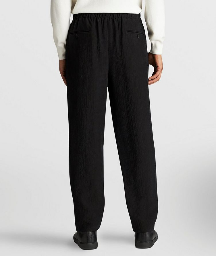 Crinkled Cupro Drawstring Pants image 2
